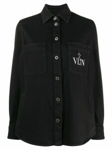 Valentino VLTN STAR print denim shirt - Black