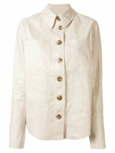Lee Mathews buttoned shirt jacket - White
