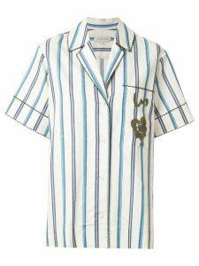 Lee Mathews short sleeved striped shirt - White