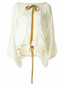 Lee Mathews oversized dotted blouse - White
