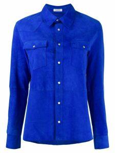 P.A.R.O.S.H. plain suede shirt - Blue