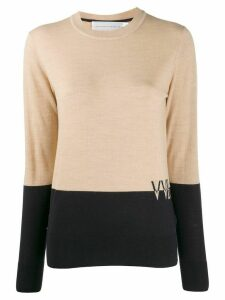 Victoria Victoria Beckham colour-block wool jumper - NEUTRALS