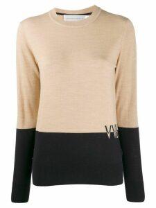 Victoria Victoria Beckham colour-block wool jumper - NEUTRALS
