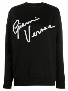 Versace GV Signature crew neck sweatshirt - Black