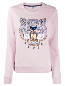 Kenzo Tiger embroidery cotton sweatshirt - PINK