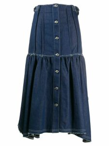 Chloé asymmetric denim skirt - Blue
