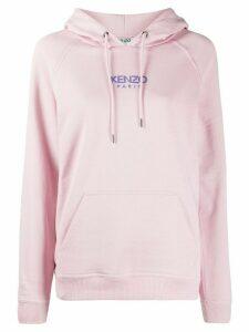 Kenzo logo-print cotton hoodie - PINK