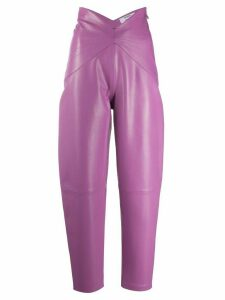 The Attico x Antonia Dallas high-waisted trousers - PURPLE