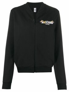 Moschino Swim zipped sweatshirt - Black