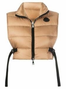 Moncler cropped padded gilet - Brown