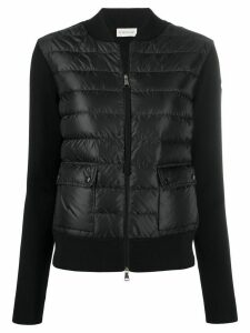 Moncler zip-up padded jacket - Black
