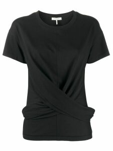 Rag & Bone twisted front T-shirt - Black