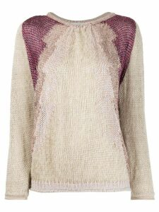 Forte Forte relaxed-fit panelled jumper - NEUTRALS