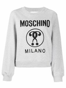 Moschino question mark sweatshirt - Grey