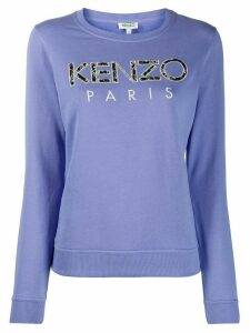 Kenzo Ikat embroidery cotton sweatshirt - PURPLE