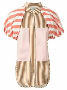 Lee Mathews puff sleeve striped shirt - PINK