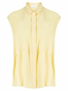 Fabiana Filippi sleeveless flared blouse - Yellow