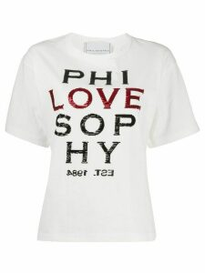 Philosophy Di Lorenzo Serafini Love embellished T-shirt - White