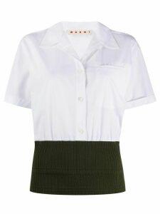 Marni ribbed hem short-sleeve shirt - White