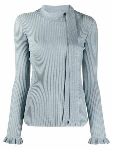 RedValentino rib-knit jumper - Blue