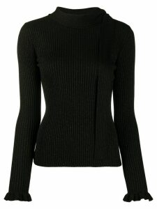 Red Valentino rib-knit jumper - Black