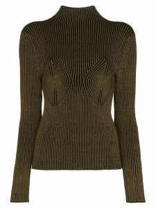 Mara Hoffman mida rib knit turtleneck top - Green