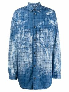 Faith Connexion oversized two tone shirt-jacket - Blue