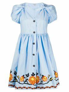 Miu Miu embroidered short dress - Blue