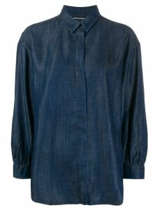 Emporio Armani long-sleeve denim shirt - Blue