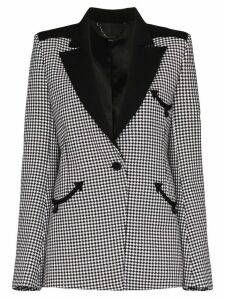 Paco Rabanne houndstooth single-breasted blazer - Black