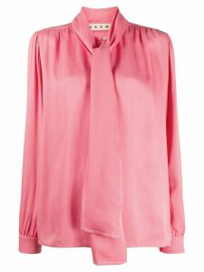 Marni tie detail pleated top - PINK