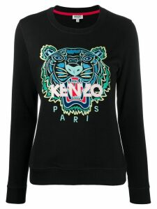 Kenzo tiger-embroidered sweatshirt - Black