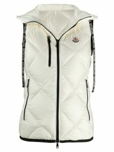 Moncler logo patch quilted gilet - White