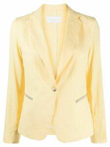 Fabiana Filippi single-breasted fitted blazer - Yellow