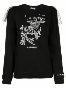 RedValentino printed detail jumper - Black