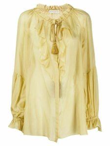 Etro oversized ruffled blouse - Yellow