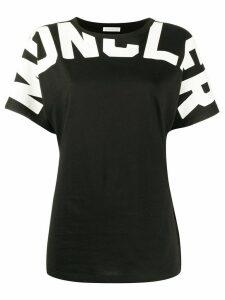 Moncler logo print short-sleeved T-shirt - Black
