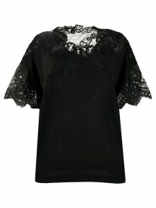 Ermanno Scervino lace panelled loose-fit blouse - Black