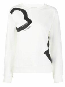 Moncler printed details sweatshirt - White