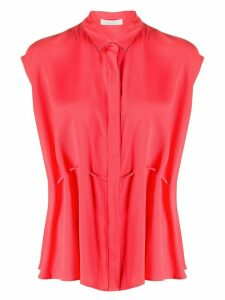 Fabiana Filippi sleeveless waist-tied blouse - Red