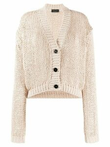 Roberto Collina chunky-knit buttoned cardigan - NEUTRALS