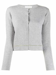 Fabiana Filippi bead-embellished cardigan - Grey