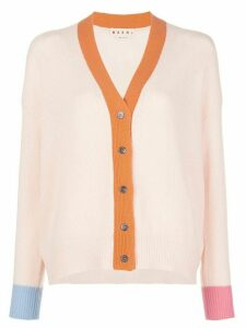 Marni cashmere colour-block cardigan - PINK