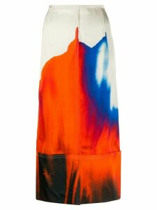 colville watercolor straight skirt - NEUTRALS