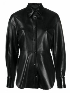 Isabel Marant button-up leather shirt - Black