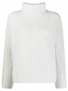 Vince chunky-knit funnel neck jumper - White