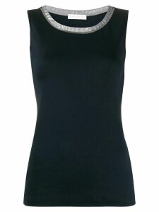Fabiana Filippi bead-embellished tank top - Blue