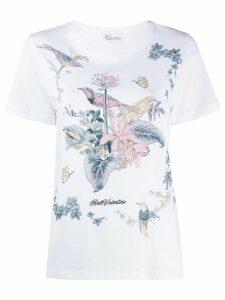 RedValentino floral print T-shirt - White