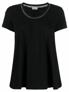 Brunello Cucinelli embellished neckline T-shirt - Black