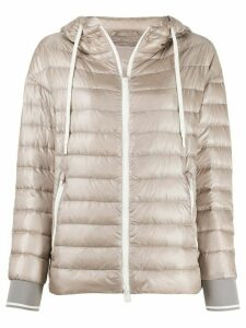Herno quilted-down hooded jacket - NEUTRALS